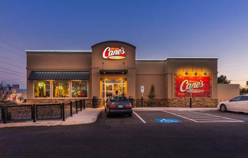 Exterior, Raising Cane's, Reno, Nevada – John Anderson Construction, Inc.