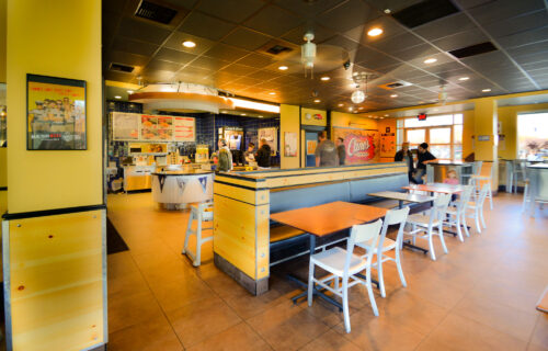 Interior, Raising Cane's, Reno, Nevada – John Anderson Construction, Inc.